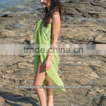 BEACH TOWEL PAREOS SARONG/GEORGETTE DYED POLYESTER PAREOS ONE PIECE MUSTY USE PAREOS SURAT