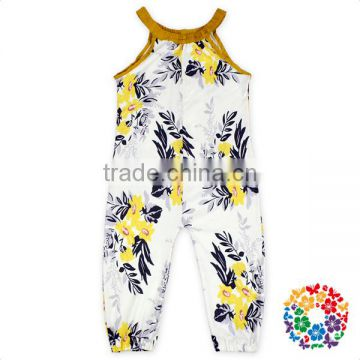 Boutique Children Clothes Jumpsuit Cheap Ruffle Neck One Piece Baby Girl Romper