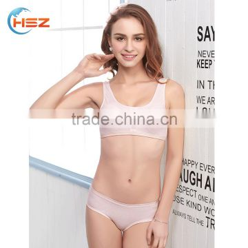 HSZ-2261 Comfort Breathable New Hot Bra Panti Photo Sexy Women Underwear For First Night Lady Beautiful Lingerie Import China