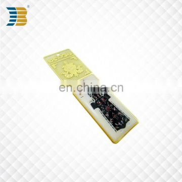 Chinese ethnic clothing custom metal bookmark print with epoxy