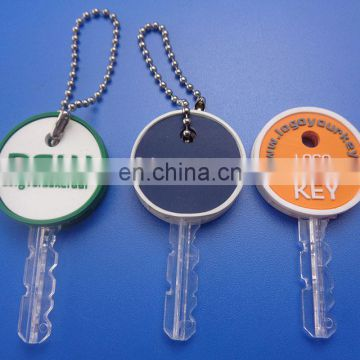 colorful round shape eco-friendly customized soft PVC key cover
