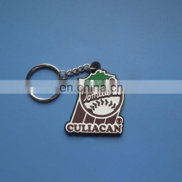 Hight quality fast-moving baseball design soft pvc keychain