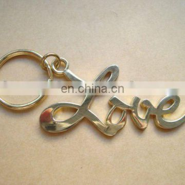 metal love letter key chain as Valentine gift