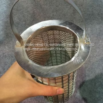 Stainless steel wire mesh cylinder filter drum basket filters