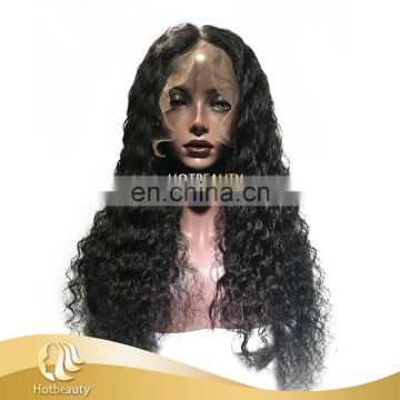 Best quality one donor virgin human hair, 360 water wave frontal with cap