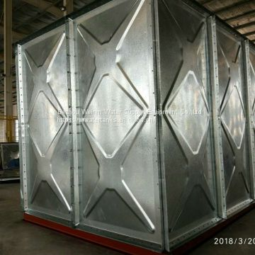 galvanized water storage tanks of Hot dip galvanized water tanks