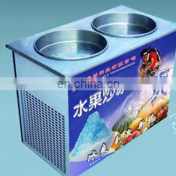 Double Pan Fried Ice Cream Machine Fried Ice Cream Machine NSF And UL Thailand Rolled Fried Ice Cream Machine