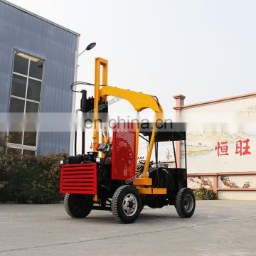 Hammer pile driver highway guardrail pneumatic post hole pile driver drilling machine