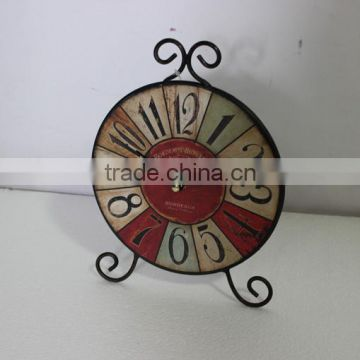 Shabby Flower Decor Antique Table Promotion Clock