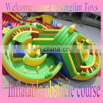 Circle inflatable obstacle course for amusement park