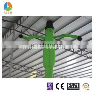 green air dancer,mini inflatable sky air dancer/ dancing man with LED light