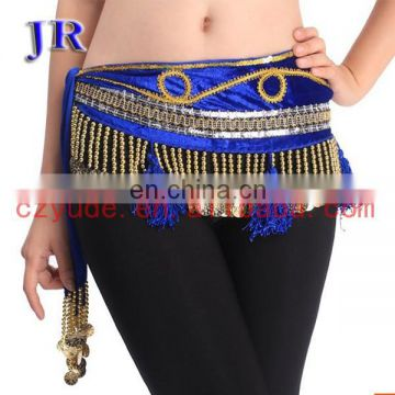 Cheap tribal egyptian belly dance beaded tassel hip scarf Y-2025#