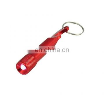 Mini Bottle Opener LED Flashlight Key Ring Keychain