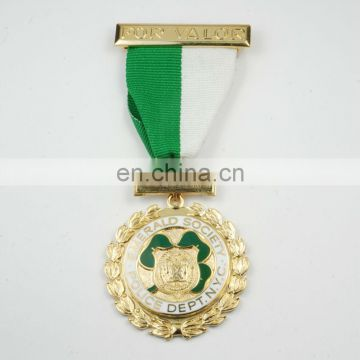 Custom military award enamel colors medal medallions ribbons