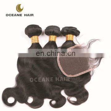 grade aaa cheap brazilian human hair weave lace closure