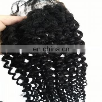 Kinky curly hair lace closure with indian hair cheap price hair closure for black women