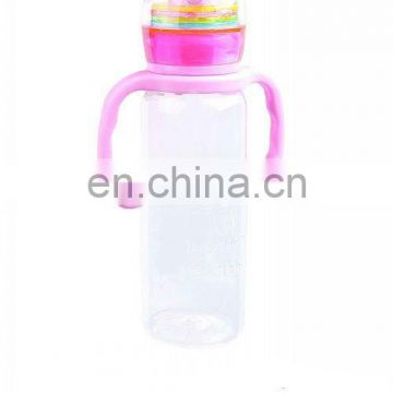 8OZ Wonderful Design Erect Rattle Baby Bottle with handle