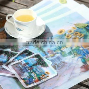 Promotional EVA foam coaster Gift printied PVC /pp placemats Custom logo rubber coaster Cheap cork/grey board cup pad/mat