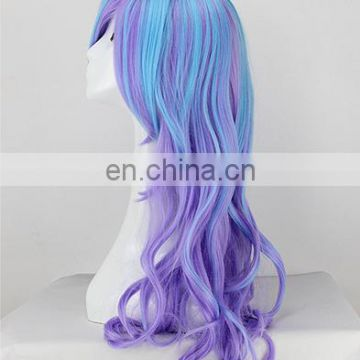 Factory direct sell Custom fashion cheap synthetic cosplay wigs with free Random Sample