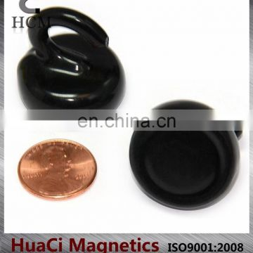9 LB(4.08kg) Holding Power Neodymium Magnetic Hook Rubber Coated