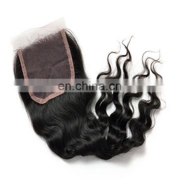 Factory wholesale hand tied lace closure deep wave remy virgin peruvian hiar 100%human hair