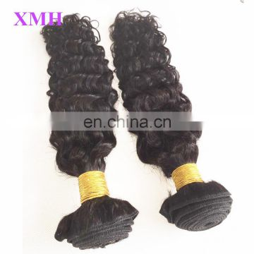 China Factory Wholesale Unprocessed Human Hair Extensions Peruvian Curly Virgin Hair Bundles