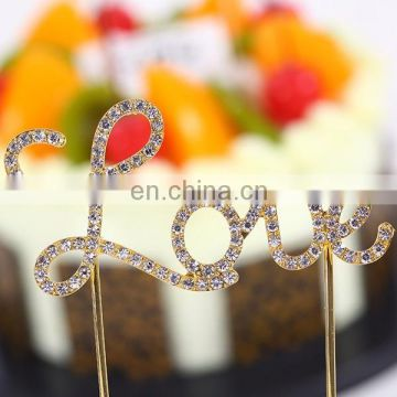 Newest rhinestone charm chirstmas ornament birthday cake ornament