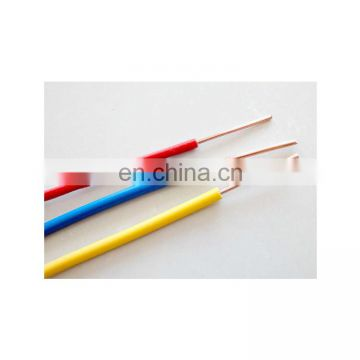 AWG Electric Wire PVC Covered 6 8 10 12 14 AWG Wire Solid Or Stranded Copper Conductor From Direct Factory