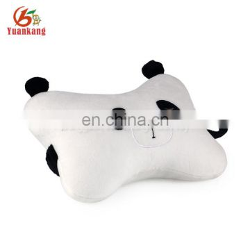 Cheap Cute Panda bear plush auto Seat Headrest pillow Car head Neck Rest Cushion Pillow