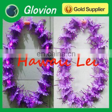 Romantic flashing garlands for activities Promotional Gift Garlands fancy colorful leis