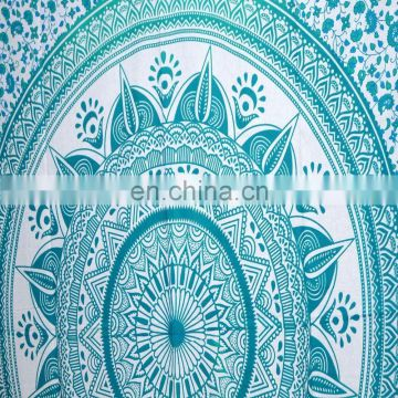 Ombre Green Beach Blanket Queen Tapestry mandala tapestry Exclusive Indian Throw Wall Hanging Wall ethnic art picnic Wholesale