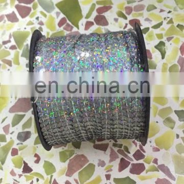 Factory wholesale silver and golden decorated belly dance sequin string roll P-9063