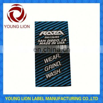 custom cheap high definition woven label for clothing