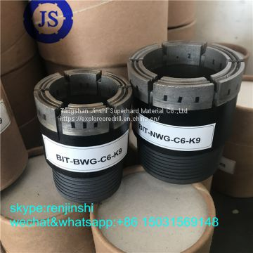 Wireline Core Bit / Impregnated Diamond Core Bit For Geological And Coal Mining Drilling Tools
