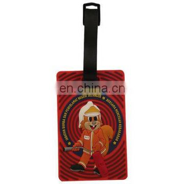 Embossed color filled luggage tag
