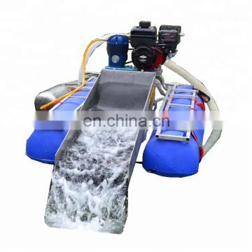 3 inches gold mining machinery with rubber mat