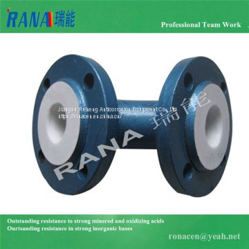 manufacture Pipe fittings Anticorrosive carbon steel lining Fluoroplastic PTFE pipeline PFA elbow ETFE tee new-PTFE pipe F40 reducer