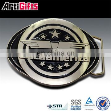 Promotion cheap metal hook and loop belt buckle