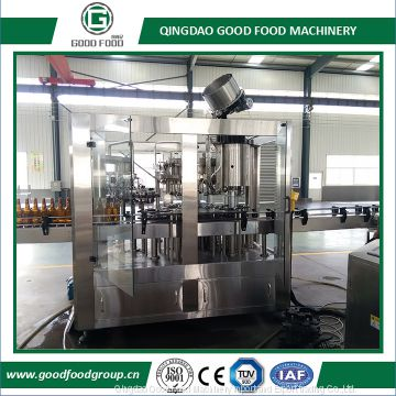 700-1500 BPH Beer Bottling Machine/Bottle rinsing filling sealing 3-in-1 machine/beverage bottling machine/ beer bottlin