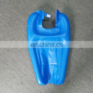 Blue color plastic inflatable shampoo tray