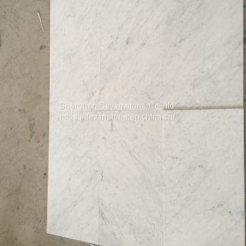 Bianco Carrara C white marble slabs, wall tiles, kitchen countertops