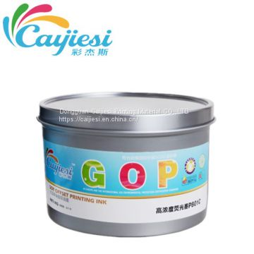 FLUORESCENT OFFSET PRINTING INK