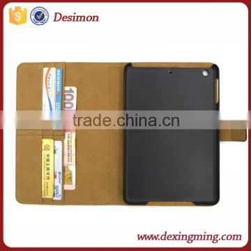 stand leather case for iPad mini 5 with card pocket and money compartment