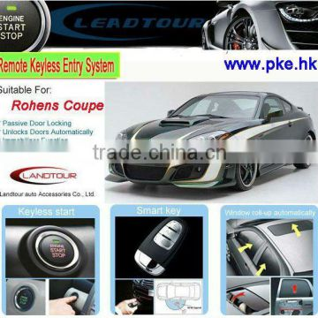 Engine start stop system smart key beret car alarm for Hyundai Rohens Coupe keyless entry with central locking system