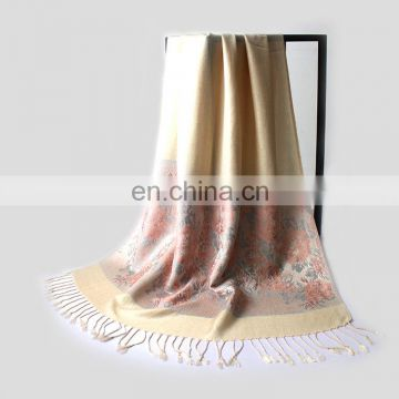 Factory direct cashmere feel warm pashmina shawl for winter