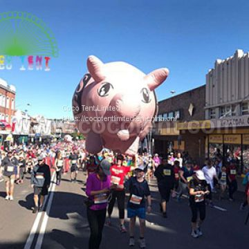 PVC Inflatable giant pig helium sky balloon for parade
