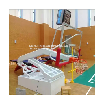 hand hydraulic basketball stand