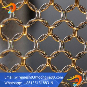 Decorative ring metal mesh for partition wall product