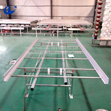 High quality metal rolling bench in greenhouse,ebb and flow table