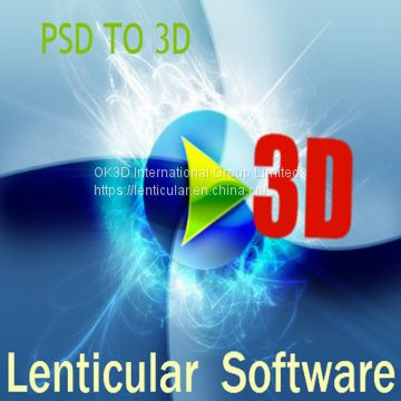 OK3D professional 3d lenticular design software flip lenticular printing software for inkjet printer and offset printing